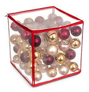 Livivo christmas bauble storage bag hold up to 64 xmas Christmas bauble storage