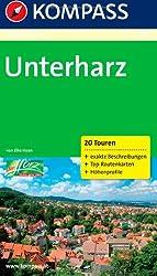 Unterharz: Wanderführer mit Tourenkarten und Höhenprofilen