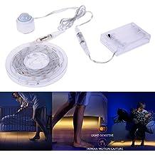 Bewegungs-aktiviertes Bett Beleuchtung, Auledio IP65 wasserdicht flexibles USB-LED-Streifen-Sensor-Nachtlicht-Ablichtung mit automatischem Bewegungssensor für Bett, Flure, Treppen - 4.9ft x 2