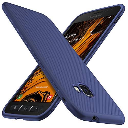 iBetter für Samsung Galaxy Xcover 4 Hülle, für Samsung Galaxy Xcover 4S Hülle, Ultra Thin Tasche Silikon Handyhülle Case Shock Absorption Hülle passt für Samsung Galaxy Xcover 4/4s Phone (Blau)