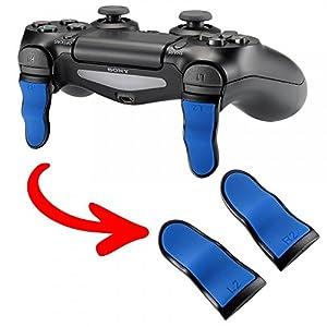 eXtremeRate 1 Paar PS4 Trigger Tasten L2 + R2 Buttons Schultertasten Ersatzteile Zubehör Set für PlayStation 4 PS4 Dualshock 4 JDM-001/011/040/050/055 Controller