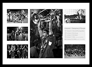 Liverpool Champions League - Framed Champions of Europe 1977-2005 Photo Memorabilia by Home of Legends