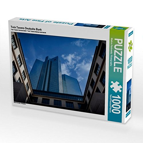 Twin Towers Deutsche Bank 1000 Teile Puzzle quer (CALVENDO Orte) (Twin Towers-puzzle)