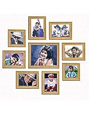 """Ajanta Royal Set of 9 Individual Photo Frames (6-5""""x7"""", 2-5""""x5"""", 1-8""""x10"""" Inch) : A-90"""