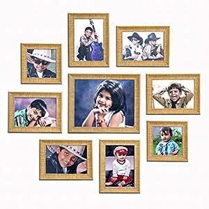 "Ajanta Royal Set of 9 Individual Photo Frames (6-5""x7"", 2-5""x5"", 1-8""x10"" Inch) : A-90I (Ivory)"
