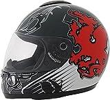 ROADSTAR Integral-Helm Revolution , Dekor Wales rot Größe S