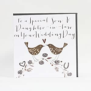 Piercing Clou Nombril Carte de mariage Inscription To A Special Son & Daughter-In-Law