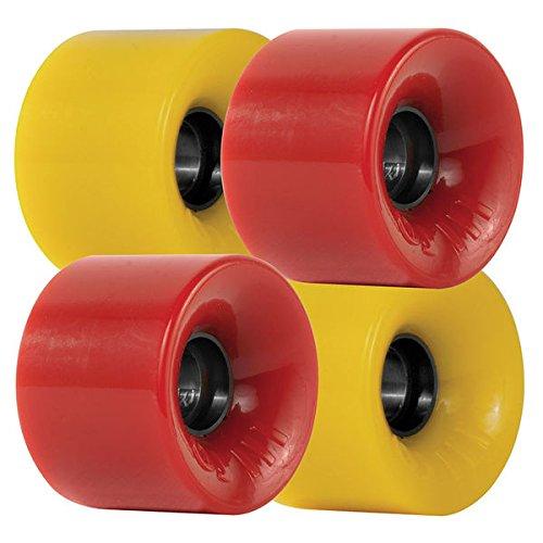 OJ Jeu de 4 roues Hot Juice Combo 78A Red/Yellow