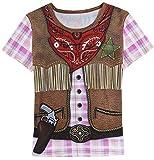 Funny World Cowgirl Kostüme T-Shirts Damen (L, Western)