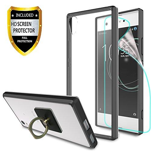 Handyhülle Xperia XZ / XR / XZs hülle, mit HD Displayschutz + Telefon Ständer, Athchu [Anti-Scratch] [Stoßdämpfer] [Air Hybrid] Ultra Slim Stoßstange Abdeckung Für Sony Xperia XZ/ F8331/ F8332(5.2
