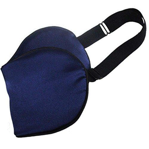Toim 100% Seda Materail Antifaz para Dormir de Seda máscara de Dormir con Correa Ajustable Ambos Lados (20* 10cm/Azul Color), Azul Marino