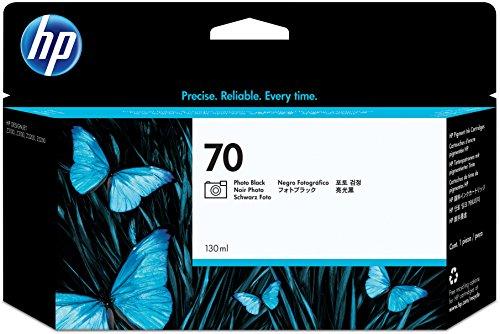 HP 70 Fotoschwarz Original Tintenpatrone, 130 ml (Hp Designjet 70)