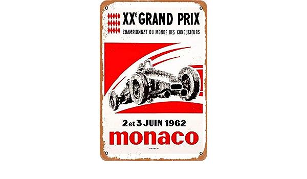 OSONA Racing Series Illustration Porsch R/étro nostalgique Art traditionnel rouille couleur /étain Logo publicit/é frappante d/écoration murale cadeau
