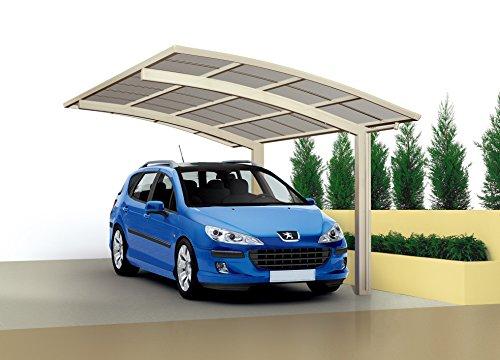 XIMAX Aluminium Design-Carport Portoforte Standard-Ausführung Typ 60 Edelstahl-Look