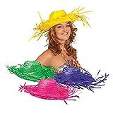 Hut Caribbean aus Stroh, 4er-Set, bunte Farben