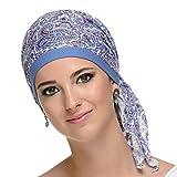 Pañuelo oncologico Paris Cashmare para mujeres con cancer, alopecia, quimioterapia