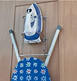 Soporte para plancha y tabla de planchar Britten & James para pared o armario. Calidad del hotel.