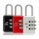 4 Stk Mini 3 Digit Dial Kombination Koffer Gepäck Metall Code Passwortschloss Vorhängeschloss von MAXGOODS - Zufällige F