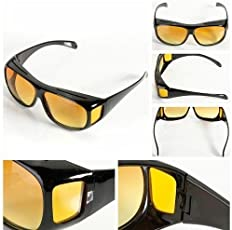 Baby Basket HD Vision Anti Glare Sunglasses Wrap Around Day & Night Driving for Men and Women