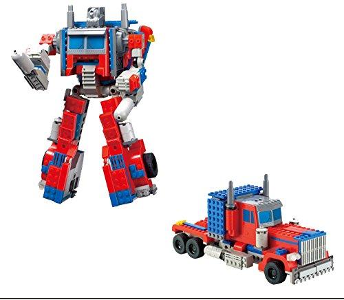 Modbrix Ladrillos Optimus Transform Robot Truck, 38cm, construcción Juguete, 384Piezas