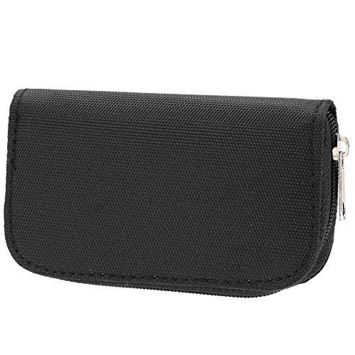 Yangmg Universal-Speicherkarte Lagerung Tragetasche Tasche Halter Box Brieftasche Fit für SD/SDHC/CF/TF/MMC-Karte Portable (Color : Schwarz, Size : M)