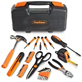 VonHaus 39Pc Precision Tool Kit Case – Household / Workshop / Home with Hard BMC – Orange incl. Claw Hammer, Screwdrivers, Pliers, Wrench, Scissors 3m Tape & 20x Bits Set