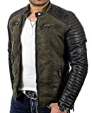 Best veste de moto - Red Bridge Hommes Veste Similicuir Biker Occasionnels Nervuré Review