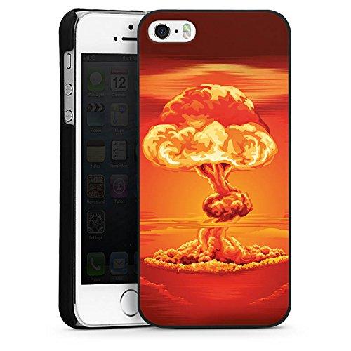 Apple iPhone 5s Housse Étui Protection Coque Explosion Guerre Champignon nucléaire CasDur noir