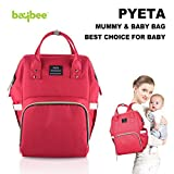 #10: Baybee Premium Wide Open Designer Baby Diaper Backpack / Multi-Function Waterproof Tote Bag Stroller Straps, Travel Bag, Nappy Changing Bag & Insulated Pocket For Mom & Dad