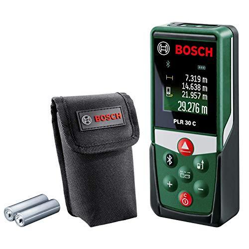 Télémètre Laser Connecté Bosch - PLR 30 C (Portée 30m, livré avec piles et housse de...