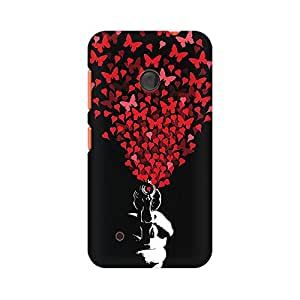 Mobicture Butterfly Shot Premium Printed High Quality Polycarbonate Hard Back Case Cover for Nokia Lumia 530 With Edge to Edge Printing