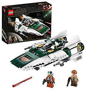 LEGO- Star Wars Episode IX A-Wing Starfighter della Resistenza Set di Costruzioni per Bambini +7 Anni, Multicolore… 5702016370737 LEGO