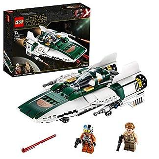 LEGO Star Wars TM – Caza Estelar Ala-A de la Resistencia, Set de Construcción de una Nave Espacial de la Guerra de las Galaxias Episodio IX: El Ascenso de Skywalker, A partir de 7 años (75248)