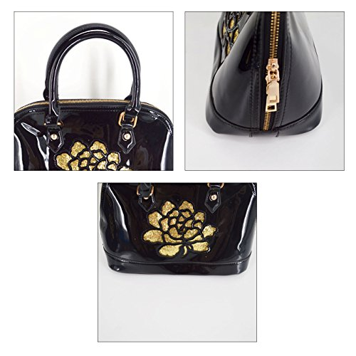 27692a35abcaf AiSi Damen Lack Leder Handtasche  Damenhandtasche  Schultertasche   Crossbody Bag  Umhängetaschen  Henkeltasche mit Reißverschluss  Schulterriemen rot blau ...