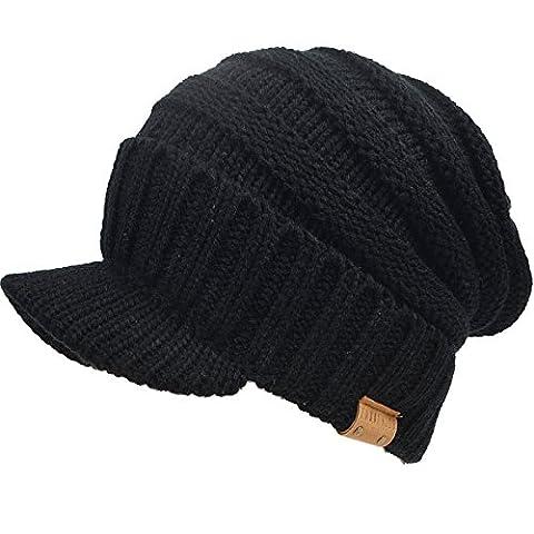 FORBUSITE - Casquette visière - Homme Taille Unique - noir - Taille Unique