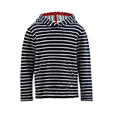 Living Crafts Frottee-Hoodie 128, Dark Navy/White