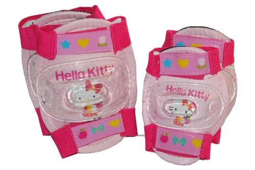 4 tlg. Kinder Set Knieschützer Hello Kitty - 5 bis 10 Jahre - Ellenbogenschützer Gelenkschützer Knieschoner rosa pink