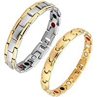 JOVIVI Partner Magnetarmband Edelstahl Magnetisch Armreif 4-in-1 Magnete Armband Liebhaber Paare Armreif Freundschaftsketten preisvergleich bei billige-tabletten.eu