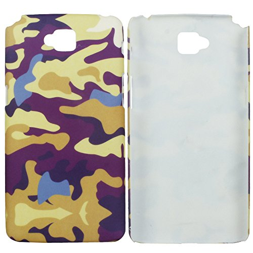 Heartly Army Style Retro Color Armor Hybrid Hard Bumper Back Case Cover For LG G Pro Lite D686 D684 Dual Sim - Yellow Field  available at amazon for Rs.249