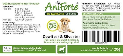 "AniForte® *Bio-Bachblüten ""Gewitter & Silvester"" für Hunde 20g Globuli - 2"