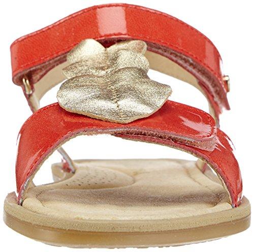 Naturino Naturino 3951, Sandales ouvertes fille Rouge - Rot (CORALLO -PLATINO9115)