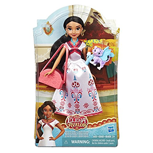 Hasbro Disney Elena von Avalor C1812EU4 Puppe mit Baby Adlopard