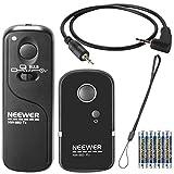 Neewer DSLR Caméra Déclencheur à Distance 320ft/100m Télécommande Sans Fil 2.4G 16CH Emetteur Récepteur pour Canon G10 G11 G15 G12 G1X SX50 700D EOS 1200D 1100D 1000D 650D 600D 550D 500D 450D 400D 350D 300D 100D 60D Series 70D Pentax K5 K7 K10 K20 K100 K200 Samsung GX-1L GX-1S GX-10 GX-20 NX100 NX11 NX10 NX5 Contax 645 N1 NX N