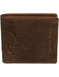 Brown Bear Linkshänder Geldbörse Herren Leder braun vintage 0552 br