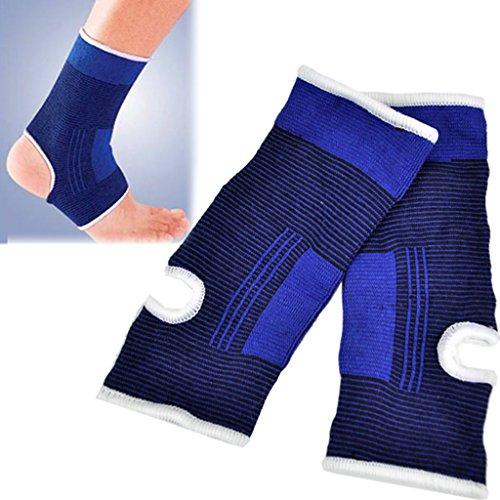 Knöchel-Guard-All4you1paarNeoprenKnöchelBandageFußbewachenMMAPadProtektorAchillessehneSchmerzenSupport(Blue) (Knöchel-riemen Elastischen)