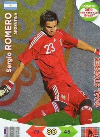 Adrenalyn XL Road To 2014 World Cup Brazil #206 Sergio Romero Goal Stopper [Toy]