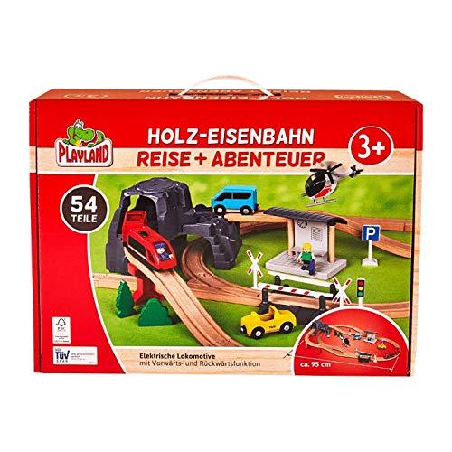 Playland Holzeisenbahn Eisenbahn Reise + Abenteuer 54 Teile