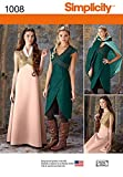 Simplicity Damen Schnittmuster 1008 Game of Thrones Stil Kleider