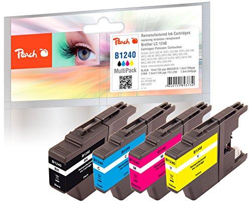 Peach Spar Pack Tintenpatronen kompatibel zu Brother LC-1240