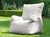 Outdoor-Hochlehner Sessel Loungesessel Sitzsack Gartenmöbel